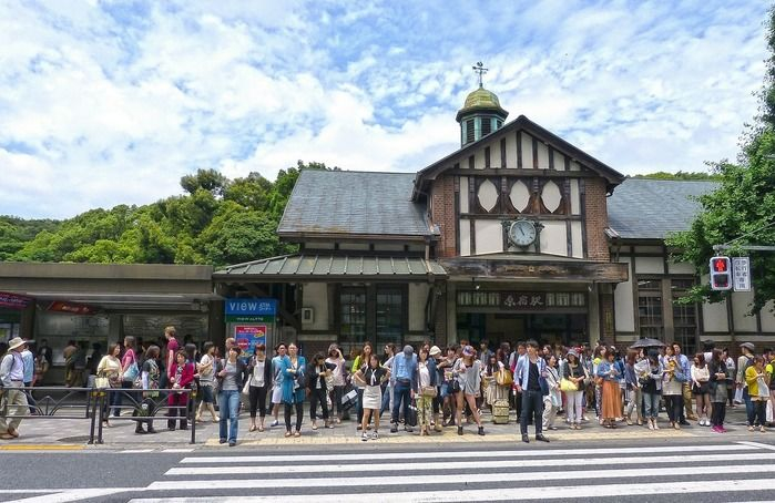 原宿駅前の写真