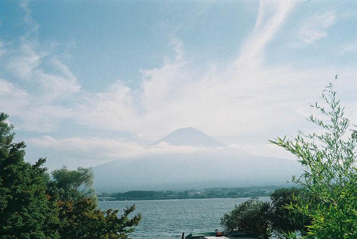 河口湖と富士山