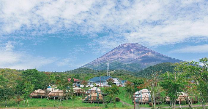 キャンピカ富士ぐりんぱから見える富士山の景色