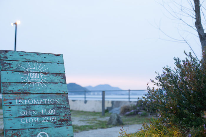CBBカリフォルニアBBQビーチの看板の写真