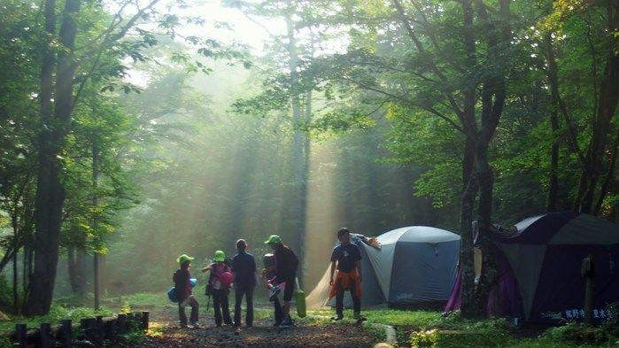 裾野市でのキャンプの様子