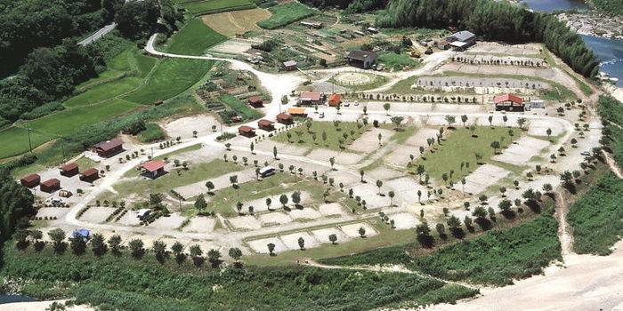 OKオートキャンプ場の上空からの写真