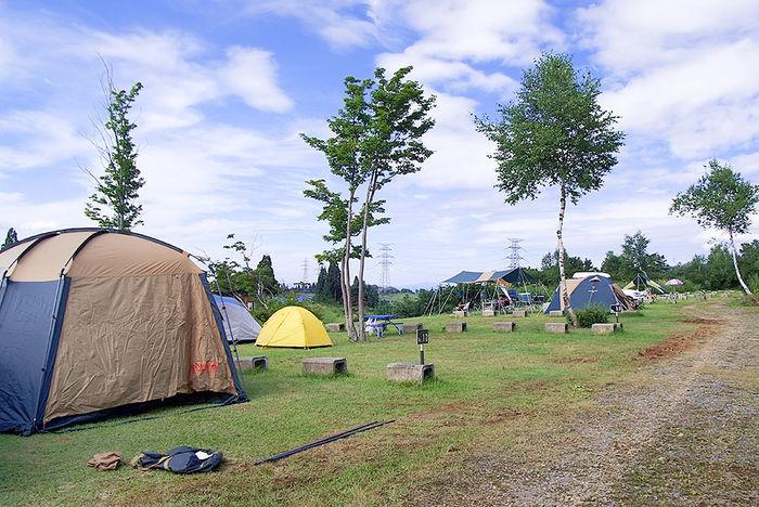 ニュー・グリーンピア津南のテントサイトの写真