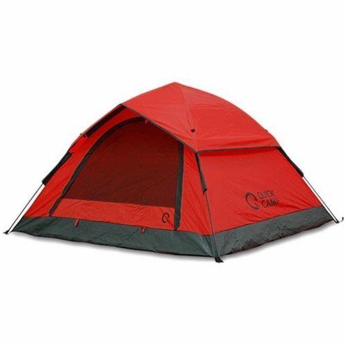 クイックキャンプの赤いテント