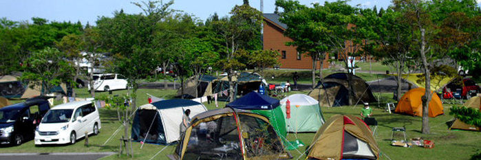 ひなもりオートキャンプ場のオートサイトの写真