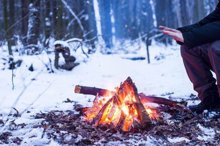 冬キャンプの様子