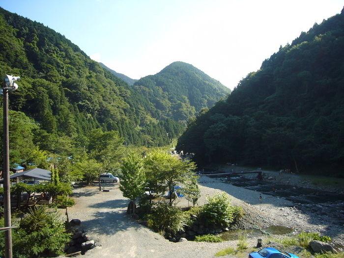 神之川キャンプ場の場内の様子の写真