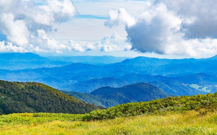 山と空の写真