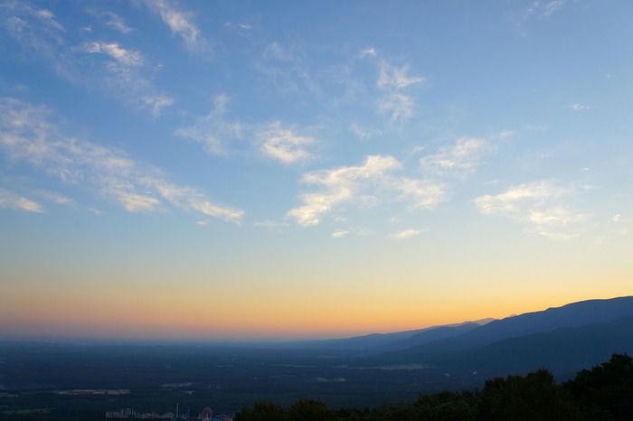 夕焼けの空の写真