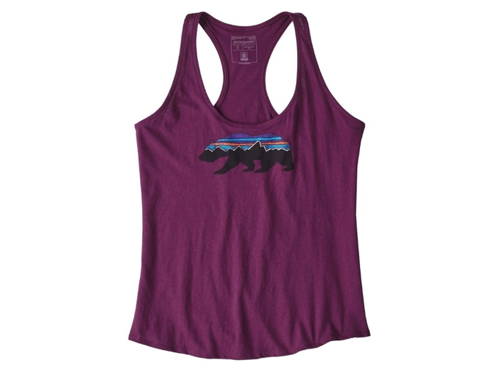 パタゴニアの紫のタンクトップ