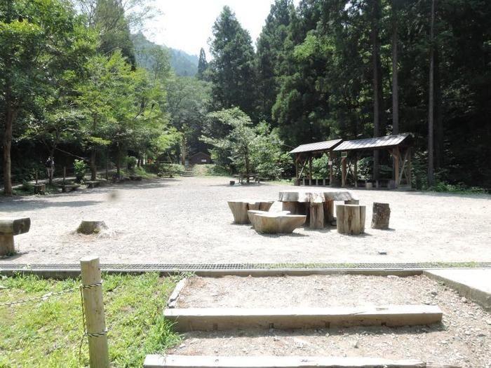 日影沢キャンプ場のサイトの様子