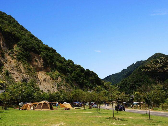 青川峡キャンピングパークのテントサイト