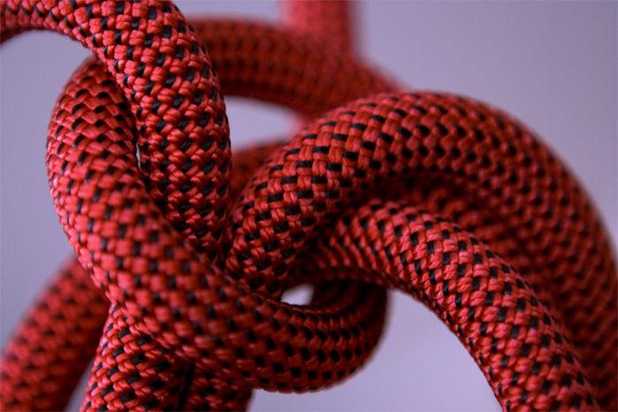 縛っているロープ