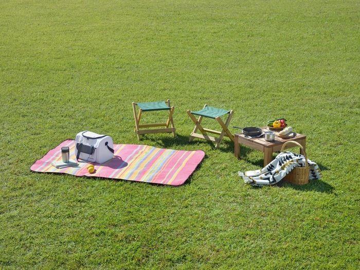 ブルーシートでピクニック