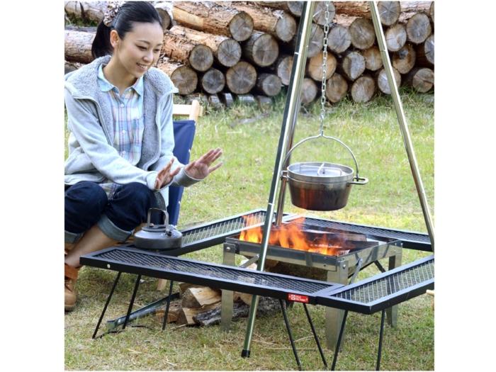 テントファクトリーの焚き火&グリルアイテム