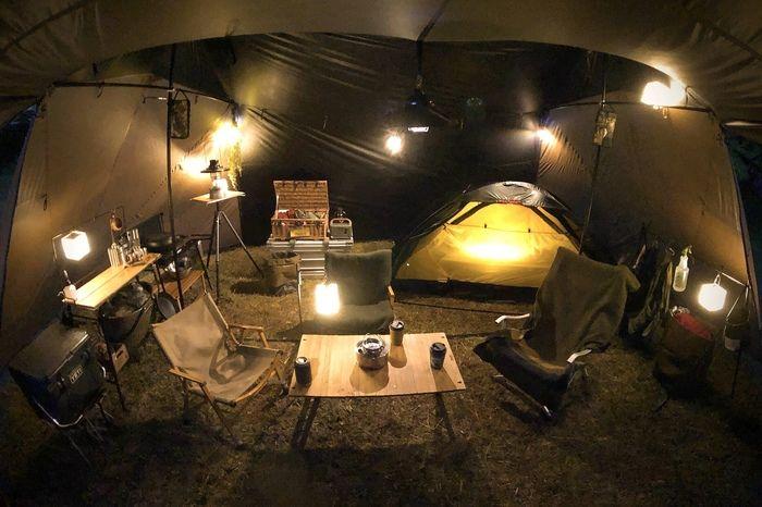 内 冬 キャンプ ストーブ テント