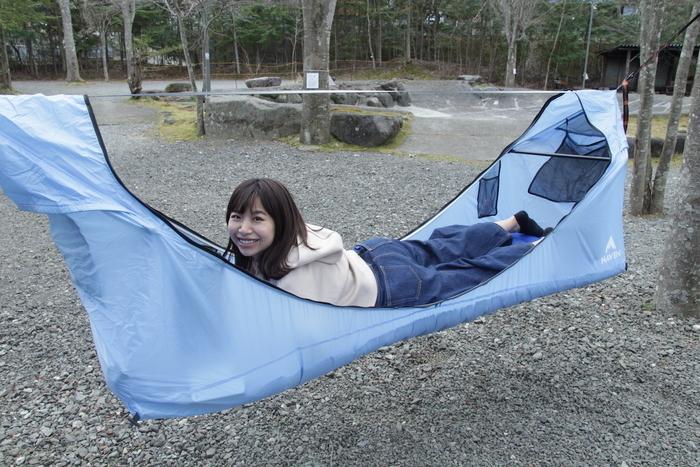 Haven tentでくつろいでいる