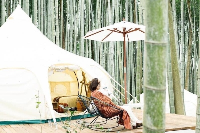 THE BAMBOO FORESTのロータスベルテント