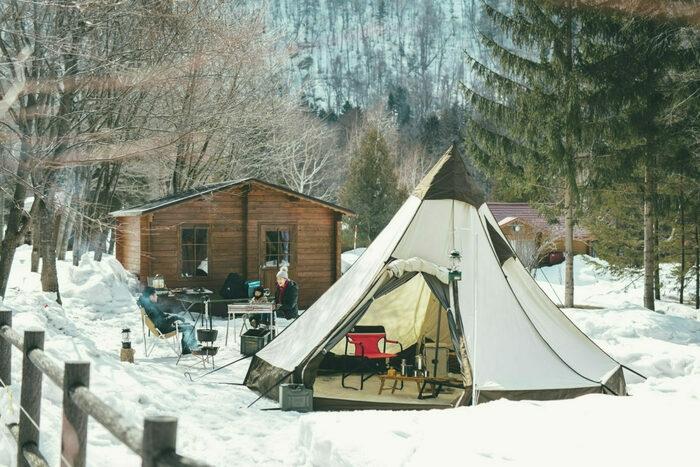 札幌市定山渓自然の村のテントサイト(特別)
