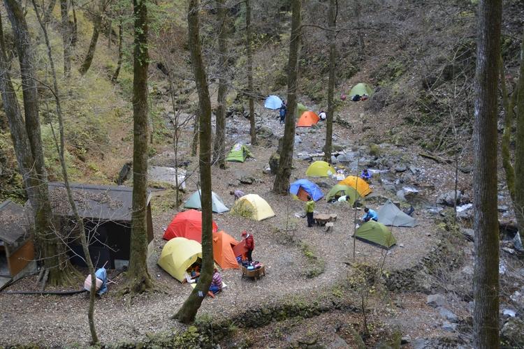 三条の湯のテント泊