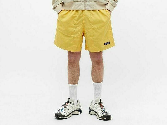 パタゴニアのハーフパンツを履いた男性の画像