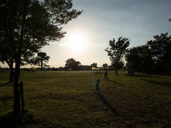 キャンプ場の光景