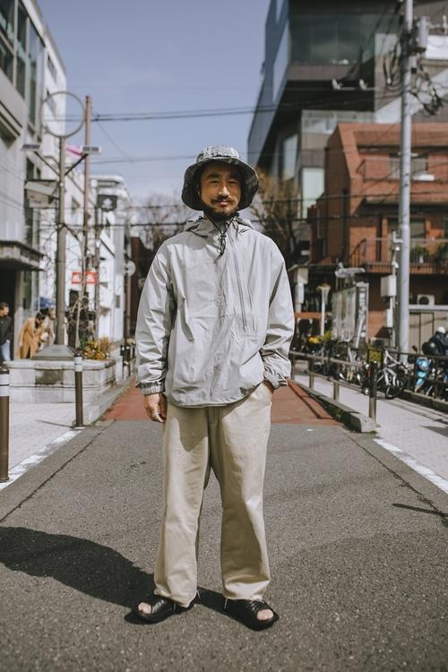 スノーピーク表参道の男性スタッフのファッションスナップ