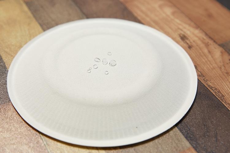 紙皿に水滴を落とす
