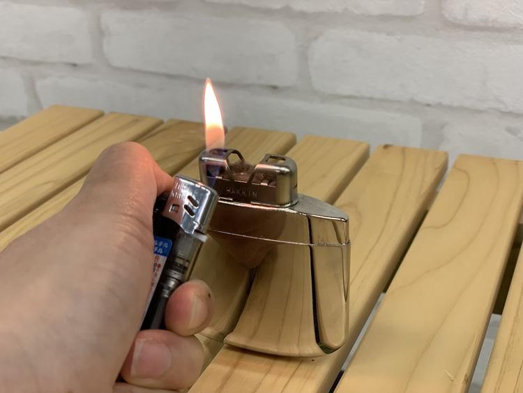 ハクキンカイロに火をつける