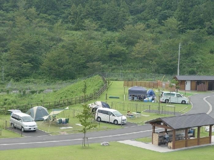 平尾台自然の郷でのキャンプの様子