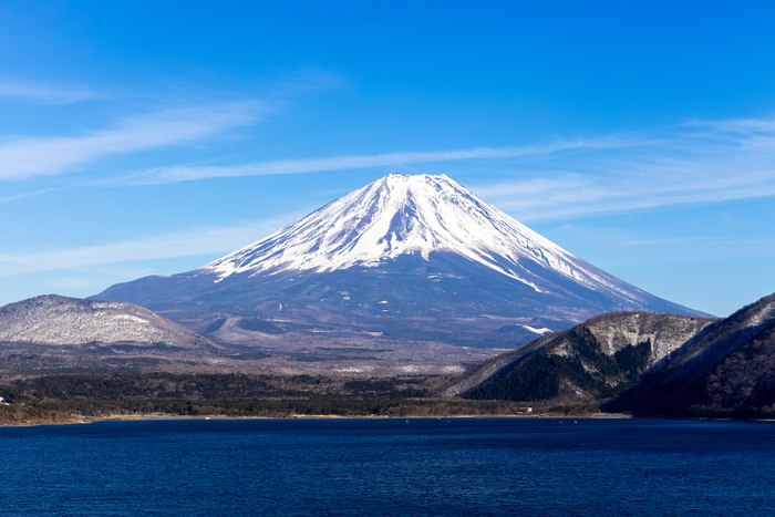 富士五湖から臨む富士山
