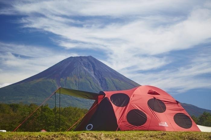 てんとう虫型のドームテント