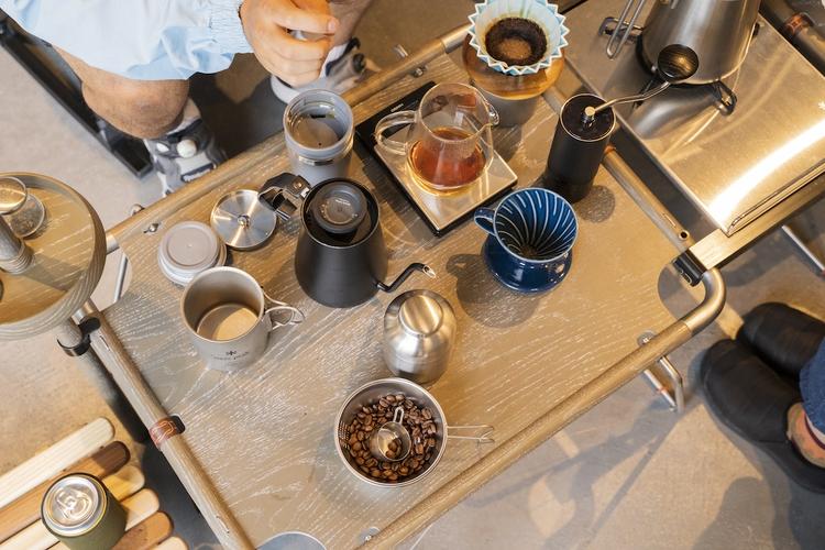 金子さんのコーヒー器具