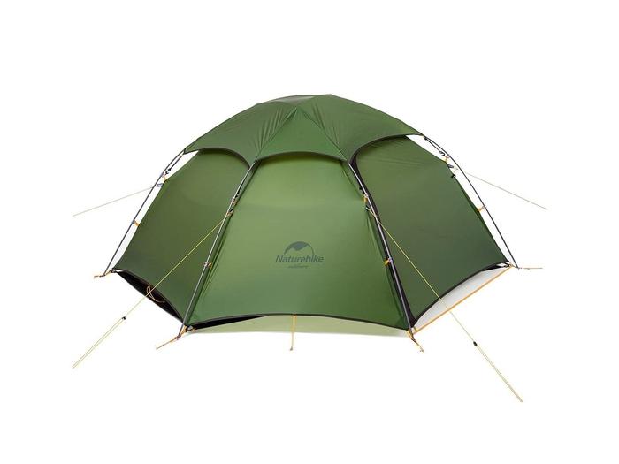 緑のドーム型のテント