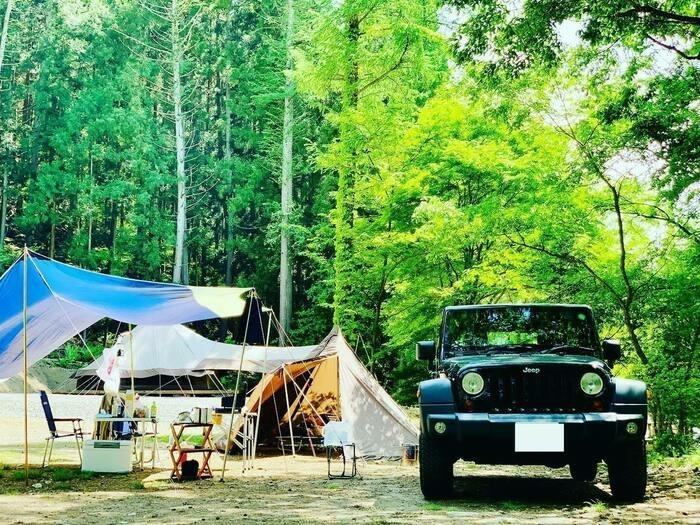グリーンパークふきわれのキャンプサイトの様子