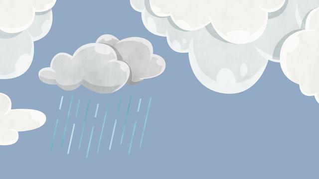 雨が降る空