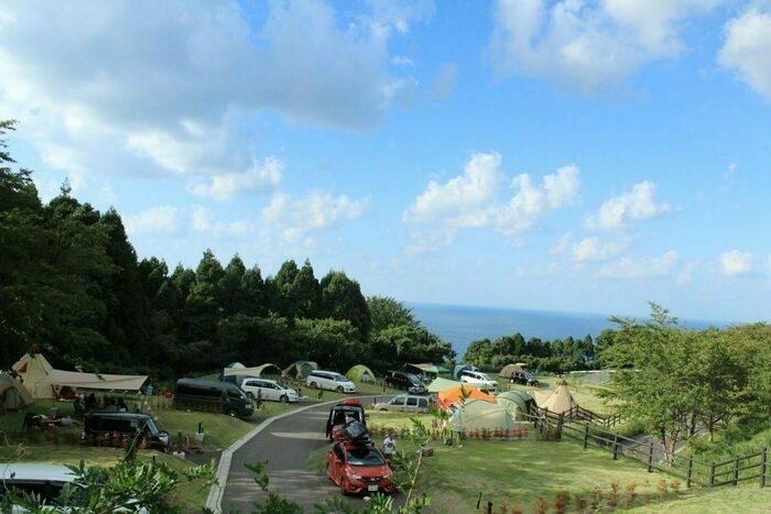 ガラガラ山キャンプ場から見える景色