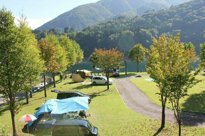 桂湖オートキャンプ場の様子