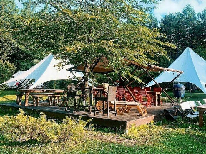 中札内農村休暇村フェーリエンドルフのグランピングテントの画像