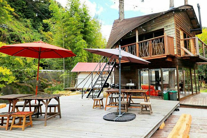 ウッドデザインパーク岡崎のグランピング施設の画像