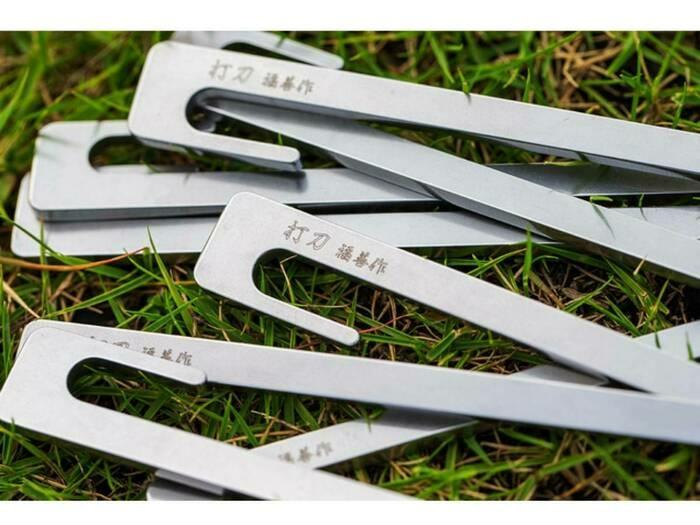 """Makuakeで話題沸騰の""""日本刀ペグ""""。老舗刃物メーカーの新作「打刀」の実力に迫る!"""