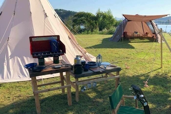 KOYAMAIKE BASEのテントの画像