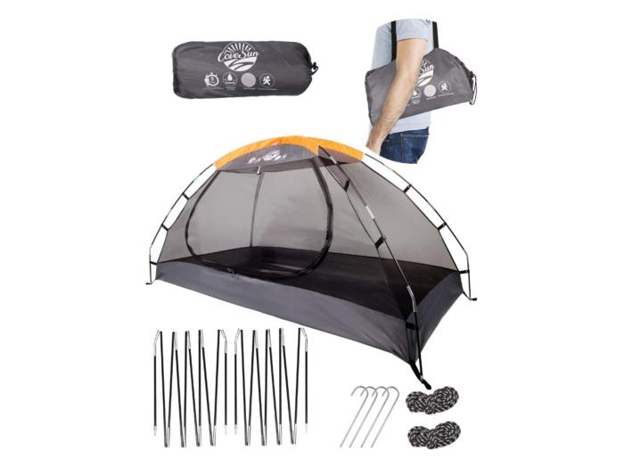 蚊帳付きテント
