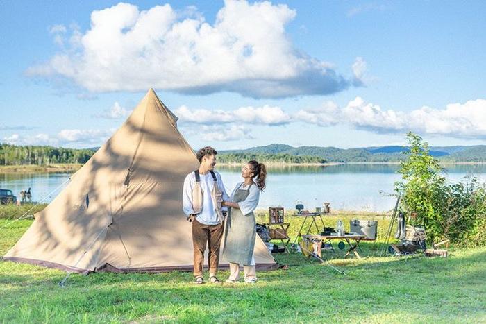 夏のキャンプファッション