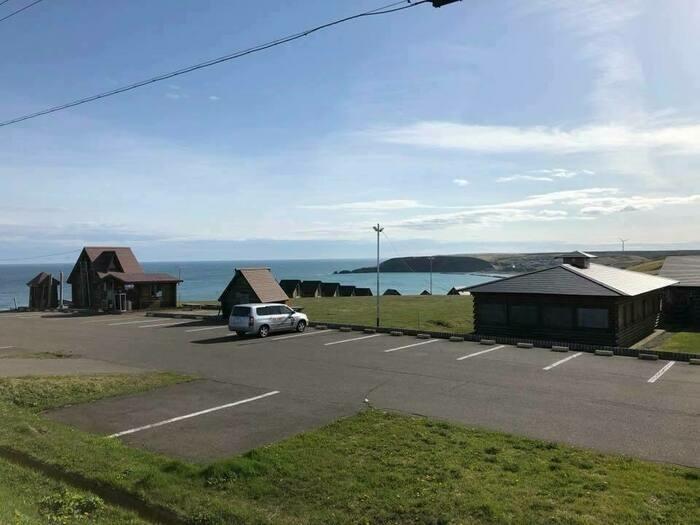 海岸のキャンプ場