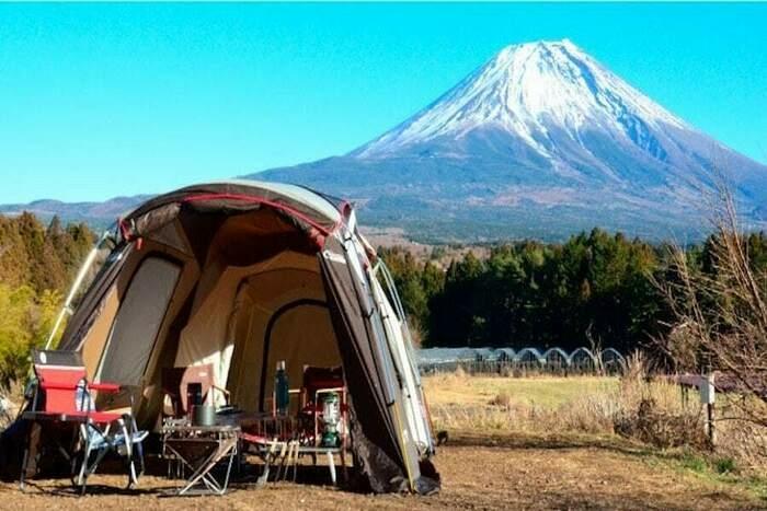 富士ヶ嶺おいしいキャンプ場のサイト風景