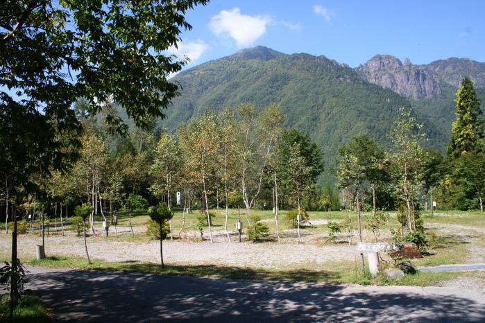 山のキャンプサイト