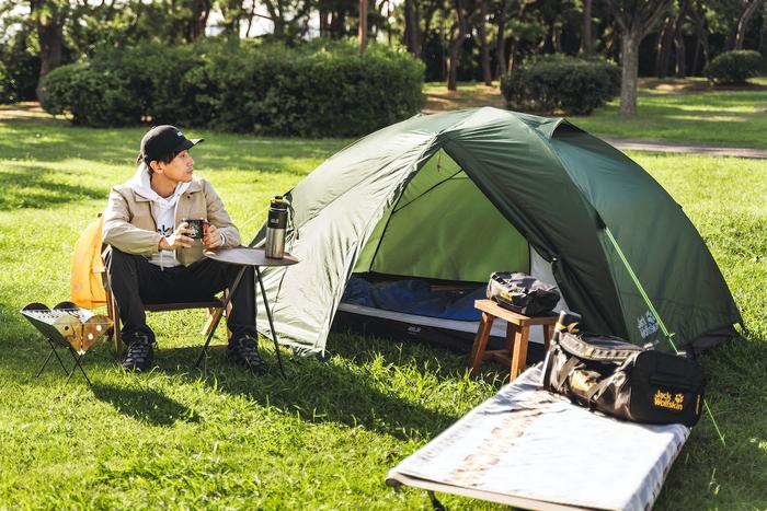 「ブランド統一」がおしゃれキャンプの近道。ジャック・ウルフスキンでトータルキャンプコーデ