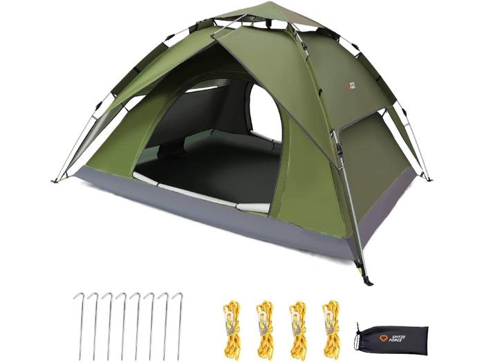 ワンタッチのテント