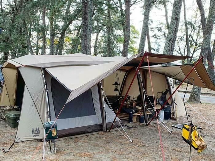 アレンジ自在!キャンプで真似したい名作テント「ogawa アポロン」のアレンジ集!